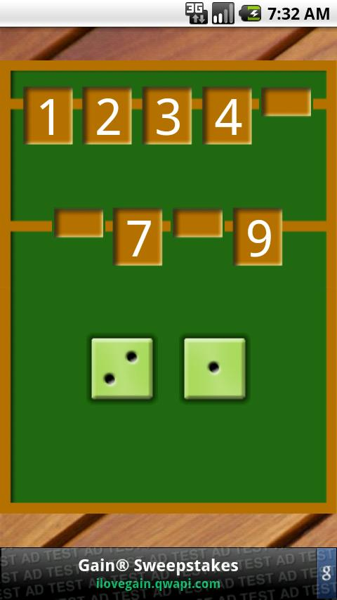 Shut The Box - screenshot