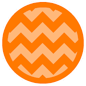 Chevron Orange Theme