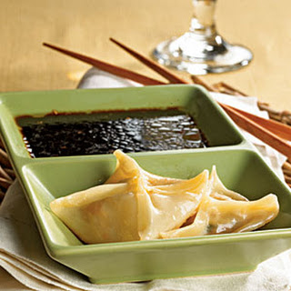 Pork Dumplings with Tangy Dipping Sauce.
