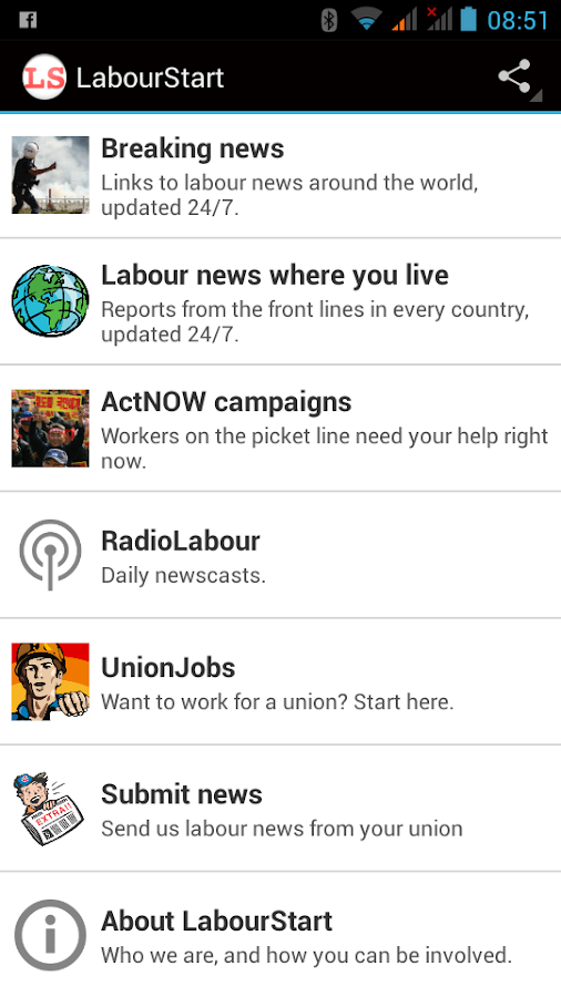 LabourStart- screenshot