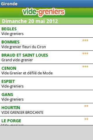 Vide-greniers BrocaBrac screenshot