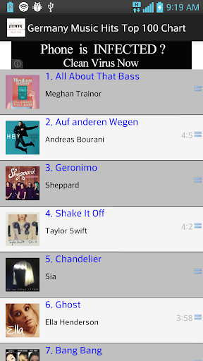 Germany Top 100 Music Hits