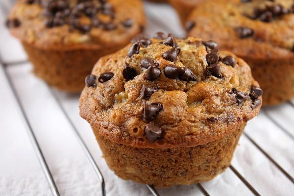Honey- Sweetened Low Fat Banana Chocolate Chip Muffins Recipe