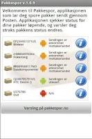 Screenshot of pakkespor - Sporing hos Posten