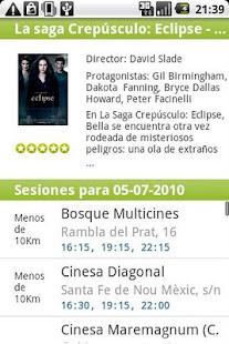 Salir.com Cartelera de Cine - screenshot thumbnail
