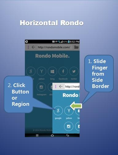 Rondo Browser - easy one hand