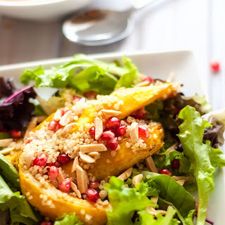 Roasted Acorn Squash, Quinoa and Pomegranate Salad