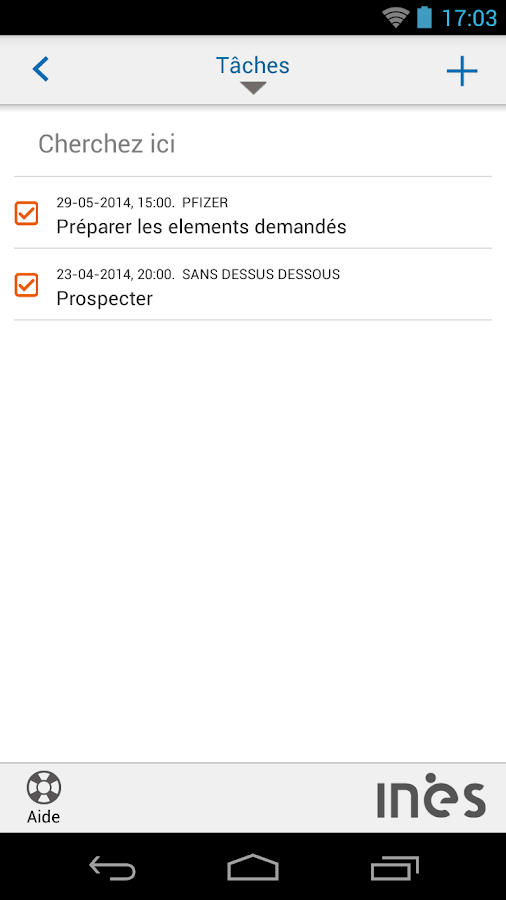 INES CRM- screenshot