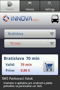 SMS Cestovný lístok- screenshot thumbnail