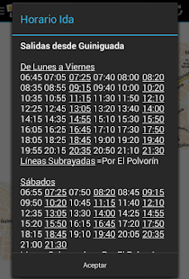Schedule Guaguas(Buses) LPGC- screenshot thumbnail