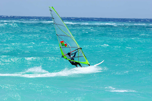 windsurfing-Barbados  - Windsurfing in the waters of Barbados.
