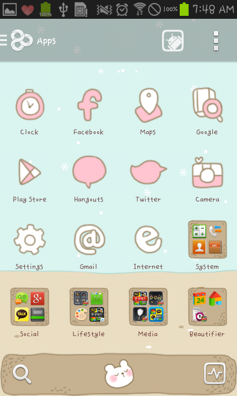 Sleeping Bear golauncher theme - screenshot
