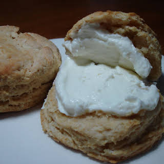 Curds & Whey Biscuits with Infused Honey & Ricotta Spread.