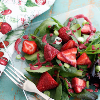 Strawberry Spinach Salad with Berry Dressing.
