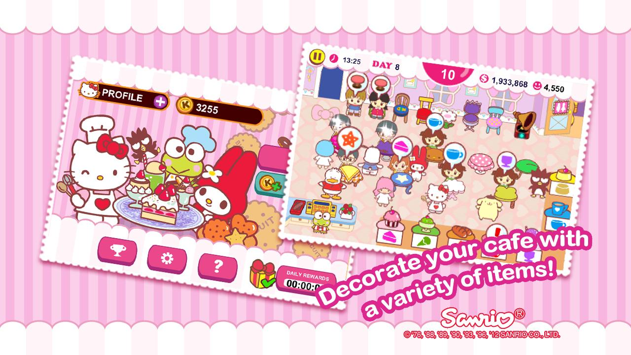 Hello Kitty Coffee Shop - screenshot