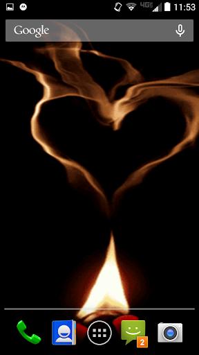 Fire Heart Live Wallpaper
