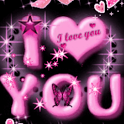 Pink I Love You Live Wallpaper icon
