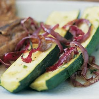 Zucchini and Red Onions with Mint