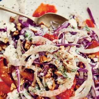 Red Cabbage and Fennel Salad with Tarragon and Lemon Yogurt.