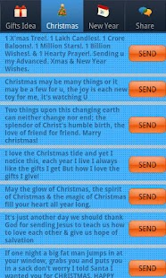 Christmas & New Year SMS Lite- screenshot thumbnail