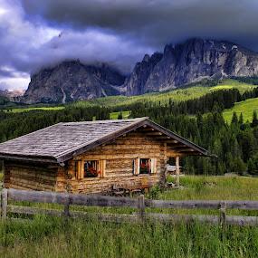 mountain chalet by Stefano Landenna - Buildings & Architecture Homes ( mountain, siusi, sassopiatto, house, sassolungo )