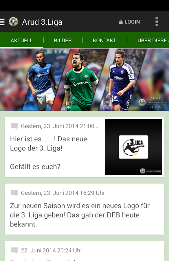 Alles rund um die 3.Liga - screenshot