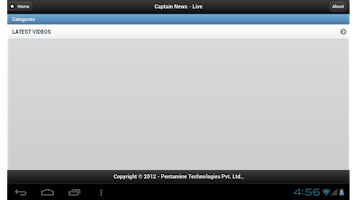 Screenshot of Captain News
