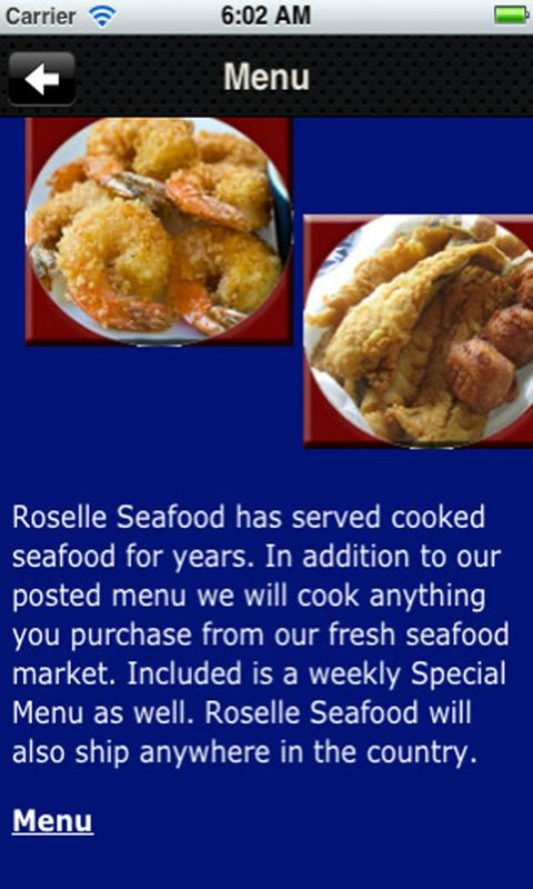 Roselle Seafood - screenshot