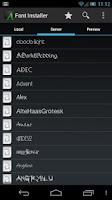 Screenshot of Font Installer ★ Root ★