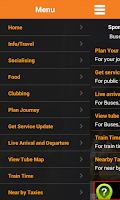 Screenshot of London Travel Planner