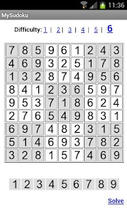 MySudoku - screenshot thumbnail