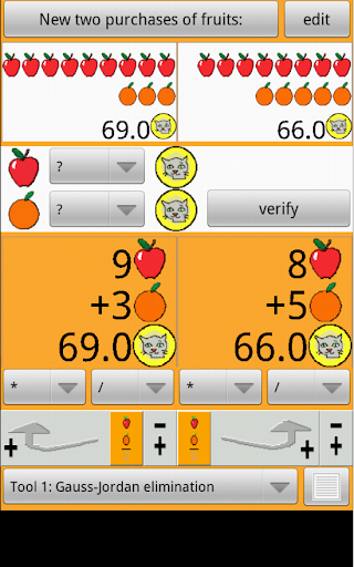 Apples and oranges 1 decimal