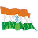 Waving India Flag Widget icon