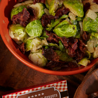 Brussels Sprouts with Beef Bacon.