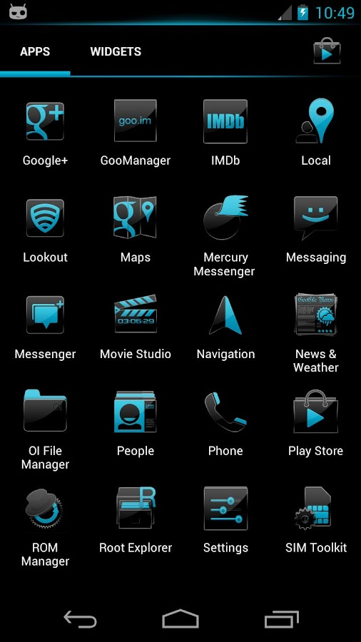 Crystal 2 CM10 Theme - screenshot