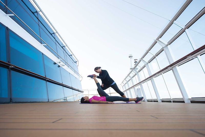 Experienced fitness and yoga instructors are on hand aboard Celebrity Constellation.