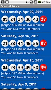 Powerball Scanner Lite- screenshot thumbnail