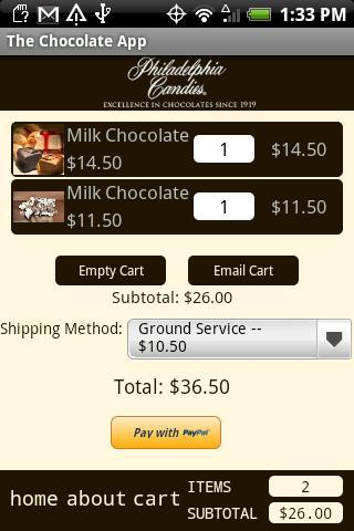 The Chocolate App - screenshot