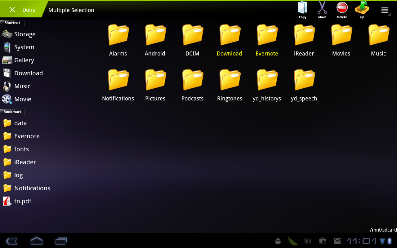 File Manager HD (Tablet) - screenshot