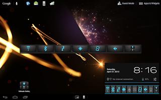 Screenshot of Swipe Settings Tool Control