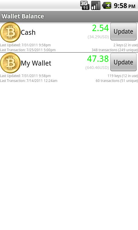 Bitcoin Wallet Balance - screenshot