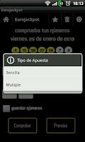 Screenshot of Comprobar Sorteos y Loterias