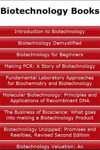 Biotechnology Books