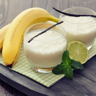 Baby Banana, Mint, and Coconut Water Smoothie.