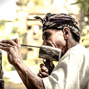 Perajin by Daniel Rico Sukoyo - People Portraits of Men