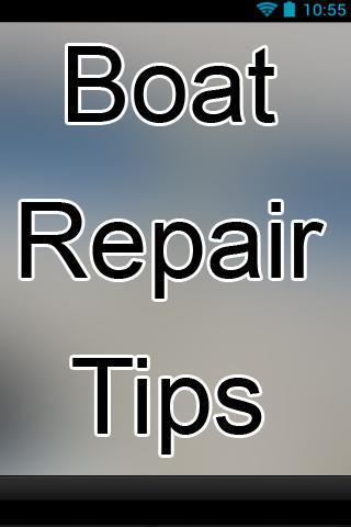 Boat Repair Tips