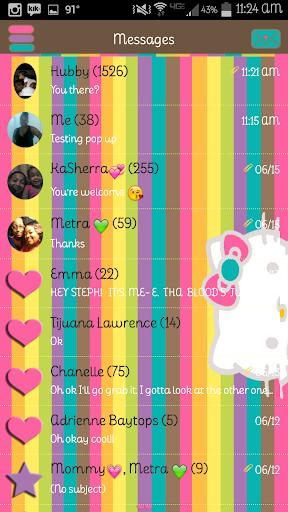 Peeky Kitty GO SMS Pro Theme