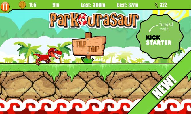 Parkourasaur - screenshot