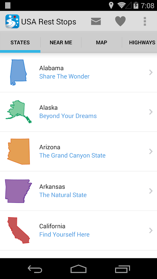 USA Rest Stop Locator - screenshot