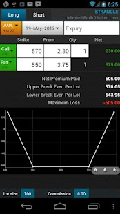 Option Strategies Calculator - screenshot thumbnail